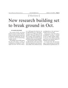 New research building set to break ground in Oct. | Maritime