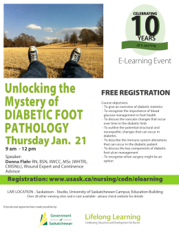 Unlocking the Mystery of DIABETIC FOOT E-Learning Event