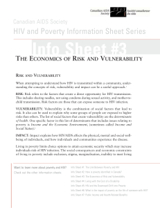 Info Sheet #3 HIV and Poverty Information Sheet Series T E