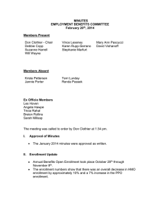 MINUTES EMPLOYMENT BENEFITS COMMITTEE February 20 , 2014