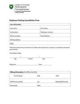 Employee Parking Cancellation Form