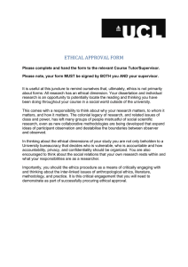 ETHICAL APPROVAL FORM