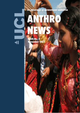ANTHRO NEWS ISSUE No. 5 November 2011