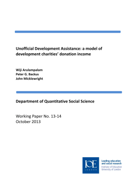 Unofficial Development Assistance: a model of development charities' donation income