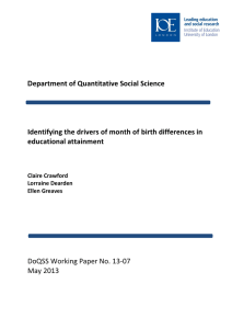 epartment of Quantitative Social Science  educational attainment