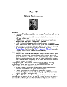 Music 320 Richard Wagner