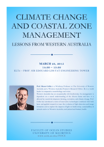 CLIMATE CHANGE AND COASTAL ZONE MANAGEMENT LESSONS FROM WESTERN AUSTRALIA