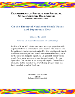 Department of Physics and Physical Oceanography Colloquium