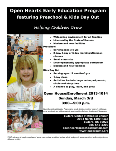 Open Hearts Early Education Program featuring Preschool & Kids Day Out