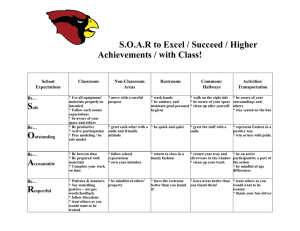 S.O.A.R to Excel / Succeed / Higher Achievements / with Class!  School