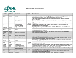Fall 2013 ETEAL Funded Initiatives
