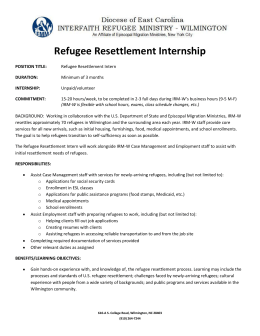 Refugee Resettlement Internship