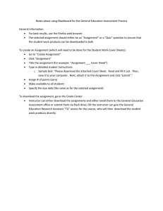 Notes about using Blackboard for the General Education Assessment Process