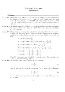Math 5010-1, Spring 2005 Assignment 6 Problems