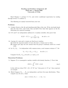 Reading and Problem Assignment #9 Math 501–1, Spring 2006 University of Utah