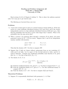 Reading and Problem Assignment #8 Math 501–1, Spring 2006 University of Utah