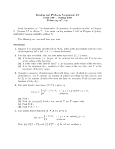 Reading and Problem Assignment #7 Math 501–1, Spring 2006 University of Utah