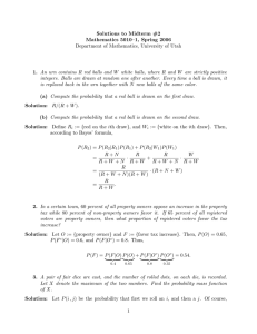 Solutions to Midterm #2 Mathematics 5010–1, Spring 2006