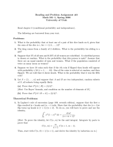 Reading and Problem Assignment #3 Math 501–1, Spring 2006 University of Utah