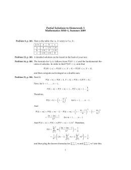 Partial Solutions to Homework 5 Mathematics 5010–1, Summer 2009