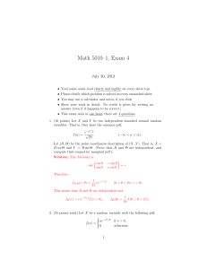 Math 5010–1, Exam 4 July 30, 2013