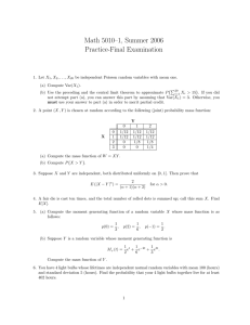 Math 5010–1, Summer 2006 Practice-Final Examination