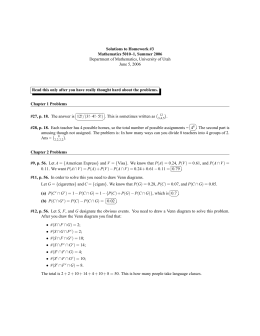 Solutions to Homework #3 Mathematics 5010–1, Summer 2006