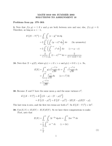 MATH 5010–001 SUMMER 2003 SOLUTIONS TO ASSIGNMENT 10 Problems from pp. 379–383: 3.