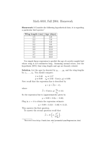 Math 6010, Fall 2004: Homework
