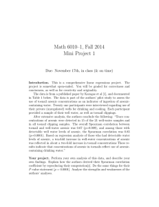 Math 6010–1, Fall 2014 Mini Project 1