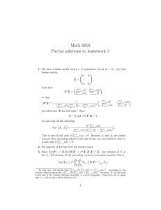 Math 6010 Partial solutions to homework 5