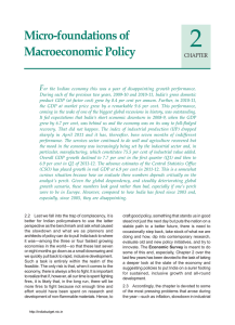 2 Micro-foundations of Macroeconomic Policy F