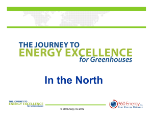 In the North © 360 Energy Inc 2012
