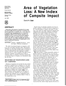 Area of Vegetation Loss: A New of Campsite Impact Index