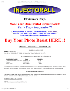 Electronics Corp. Make Your Own Printed Circuit Boards