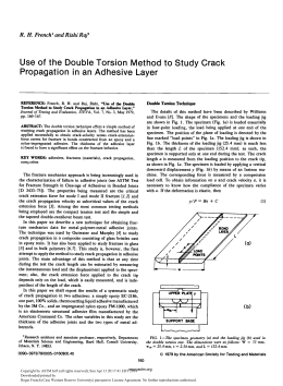 Use  of  the  Double  Torsion ... Propagation  in  an  Adhesive  Layer