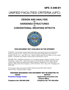 UNIFIED FACILITIES CRITERIA (UFC) UFC 3-340-01  DESIGN AND ANALYSIS