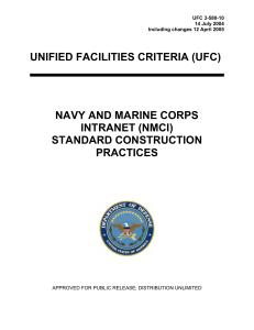 UNIFIED FACILITIES CRITERIA (UFC) NAVY AND MARINE CORPS INTRANET (NMCI)
