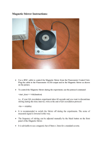 Magnetic Stirrer Instructions: