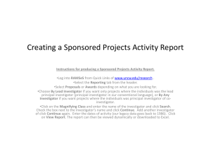 Creating a Sponsored Projects Activity Report