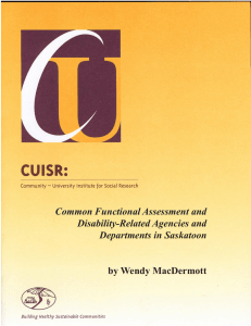 Common Functional Assessment and Disability-Related Agencies and Departments in Saskatoon by Wendy MacDermott