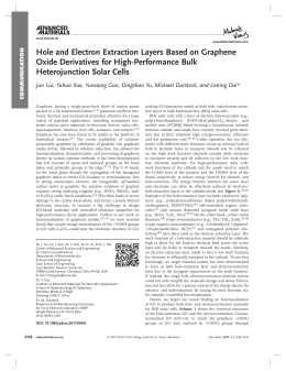 Hole and Electron Extraction Layers Based on Graphene Heterojunction Solar Cells