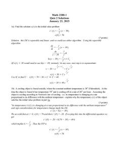 Math 2280-1 Quiz 2 Solutions January 23, 2015