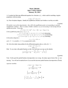 Math 2280-001 Quiz 3 SOLUTIONS January 30, 2015
