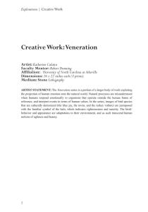 Creative Work: Veneration Artist: Faculty Mentor: Affiliation: