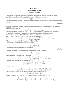 Math 2250-10 Quiz 3 SOLUTIONS January 24, 2014