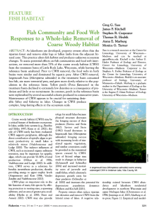 Coarse Woody Habitat Fish Community and Food Web Responses