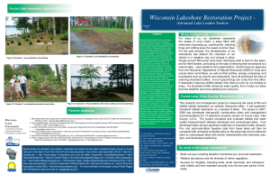 Wisconsin Lakeshore Restoration Project Advanced Lake Leaders Session W