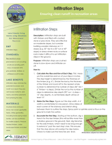 Infiltration Steps Ensuring clean runoff in recreation areas