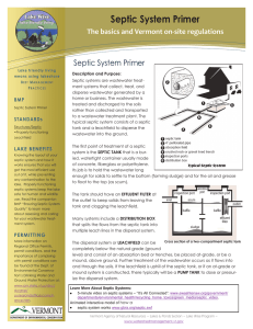 Septic System Primer The basics and Vermont on-site regulations